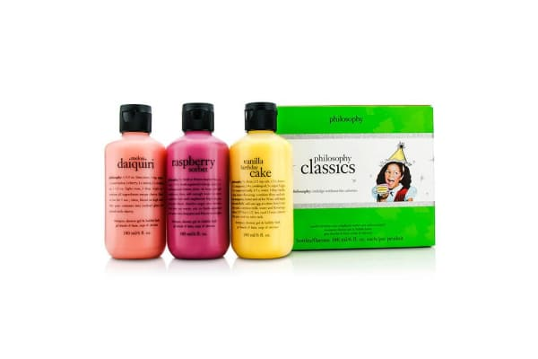 Philosophy Philosophy Classics Set: Vanilla Brithday Cake 180ml + Raspberry Sorbet 180ml + Melon Daiquiri 180ml (3pcs)