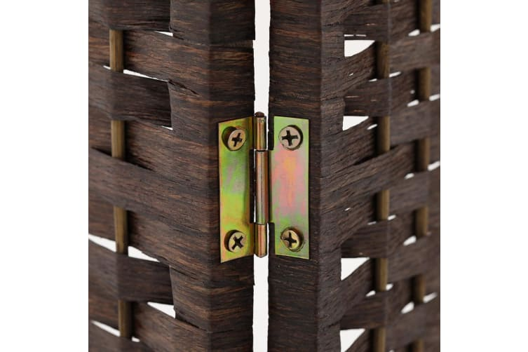Artiss 4 Panel Room Divider Screen Privacy Rattan Dividers Stand Fold Wove Brown