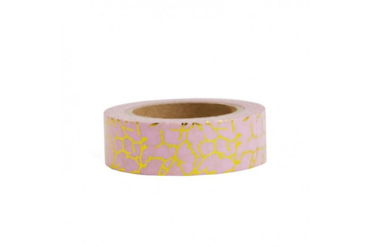 Ohh Deer Washi Tape (Gold/Pink) (One Size)