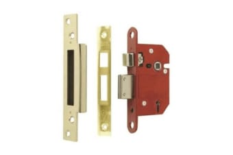 Era Fortress 5 Lever Mortice Sashlock With Satin Effect (Gold/Red) (6.3cm)