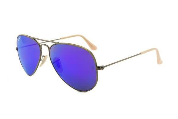 Ray Ban RB3025 AVIATOR - Demiglos Brushed Bronze (Blue Mirror lens) / 58--14--135 Unisex Sunglasses
