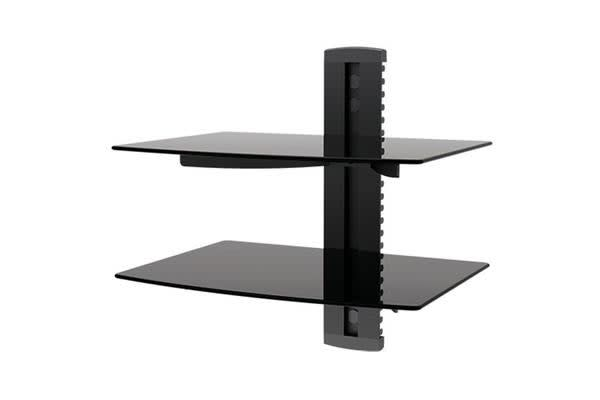 OMP Wall Mount - 2 Shelf - Glass - Height Adjustable