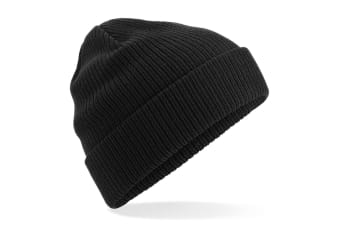 Beechfield Organic Cotton Beanie (Black) (One Size)