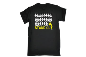 123T Funny Tee - Stand Out Scooter - (Medium Black Mens T Shirt)