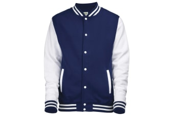 Awdis Unisex Varsity Jacket (Oxford Navy / White)