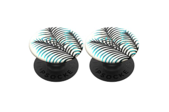 2PK PopSockets Universal Swappable PopGrip Holder w/Base Pacific Palm for Phones