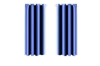 1 Pair Blockout Curtains Panels BLUE 180x213cm