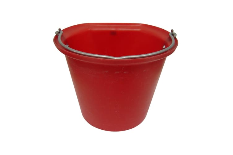 Stubbs Hanging Bucket Flat Sided Large (Red) (18l)