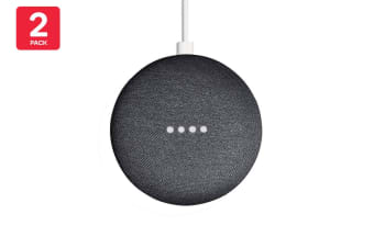 Google Nest Mini (Charcoal) - AU/NZ Model - 2 Pack