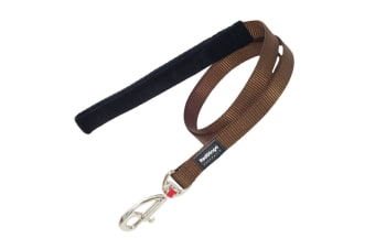 Red Dingo Plain Dog Lead (Brown)