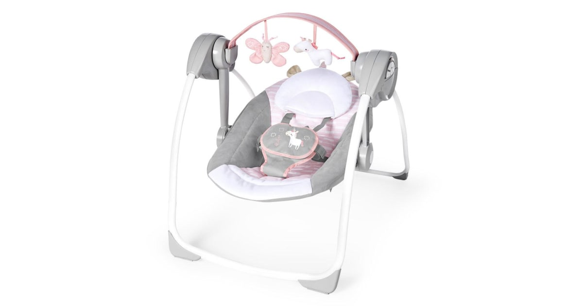 Ingenuity Swing Baby/Infant Swing/Rocker Chair 0m+ w/ Toys Audrey PS Update  Pink | Baby Care |