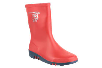 Dunlop Childrens Unisex Mini Elephant Wellington Boots (Red/Blue) (28 EUR)