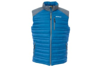 Caterpillar Mens C1320012 Defender Insulated Sleeveless Bodywarmer (Blue)