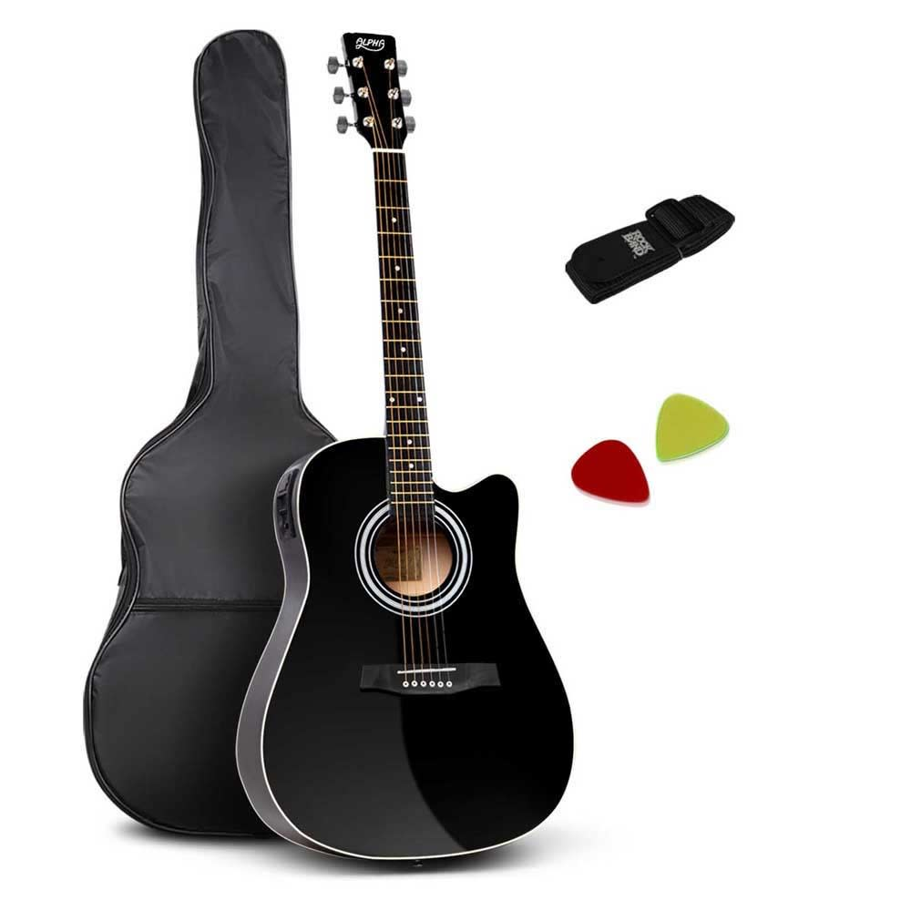 41 5 Band EQ Electric Acoustic Guitar Full Size (Black)