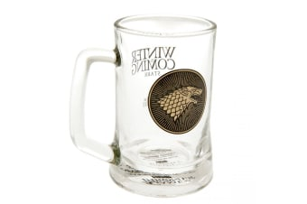 Game Of Thrones Glass Tankard Stark (Clear) (one size)
