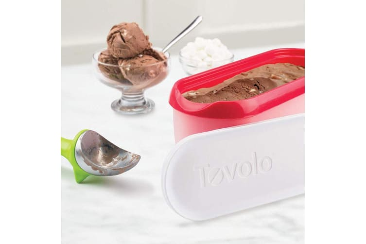 Tovolo 1.4L Rectangle Mould Ice Cream Gelato Sorbet Tub Tray Storage Pink