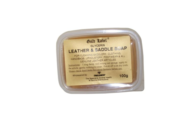 Gold Label Glycerin Leather & Saddle Soap (May Vary) (100g)