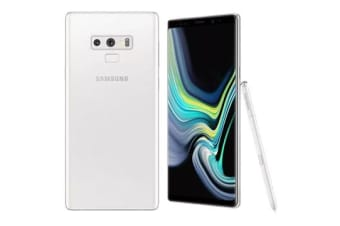 New Samsung Galaxy Note 9 Dual SIM 128GB 4G LTE Smartphone Alpine White (FREE DELIVERY + 1 YEAR AU WARRANTY)