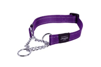 Rogz Dog Obedience Collar Purple - M