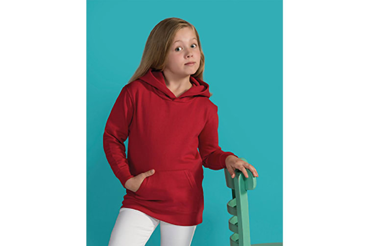 SG Kids Unisex Plain Hooded Sweatshirt Top / Hoodie (Red) (7-8)