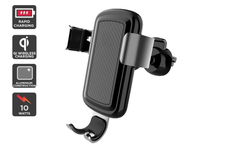 Kogan 10W Qi Fast Charge Gravity Car Mount