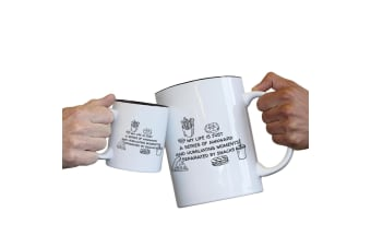 123T Novelty Funny Giant 2 Litre Mugs - My Life Is Just A Series Of Awkward And Humiliating Moments