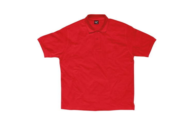 SG Kids/Childrens Polycotton Short Sleeve Polo Shirt (Red) (3-4)