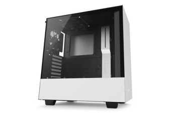 NZXT H500 Compact ATX Mid Tower Case - Tempered Glass matte white