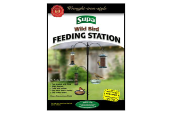 Supa Wild Bird Feeding Station (Brown) (One Size)