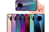 Select Mall Creative Gradient Color Glass Mobile Phone Case Mobile Phone Case Protective Cover for Huawei Mate 30-5 Huawei Mate 30