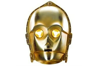 Star Wars C-3PO Mask (Gold) (One Size)