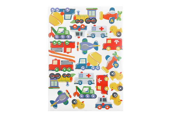 Bubbli Toy Vehicles Wall Decal