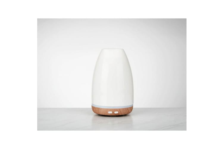 Homedics Ellia Relax Ultrasonic Aromatherapy Essential Lights Oil Diffuser White