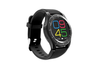 TODO Bluetooth V4.0 Smart Watch Touch Lcd Rechargeable Heart Rate Monitor Black