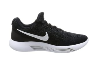 Nike Women's LunarEpic Low Flyknit 2 Running Shoe (Black/White/Anthracite, Size 5.5)