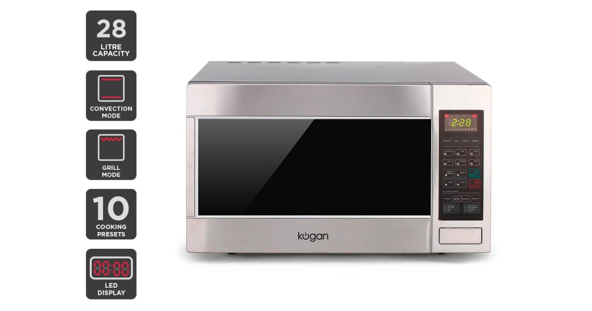 Kogan 28l Stainless Steel Convection Microwave Oven With