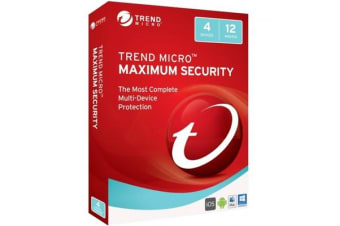 Trend Micro TM MAX SECURITY 2017 (1-4 DEV) 12MTH  Retail box AU/NZ