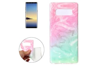 For Samsung Galaxy Note 8 Back Case Elegant Marbled Protective Cover Pink Green