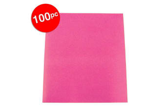 100pc ColourfulDays A4 Colour Board 160gsm Paper Craft School Sheets Hot Pink