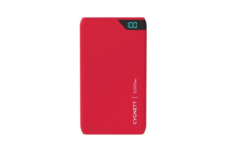 Cygnett ChargeUp Boost 5,000 mAh Dual USB 2.4A Power Bank - Red (CY2500PBCHE)