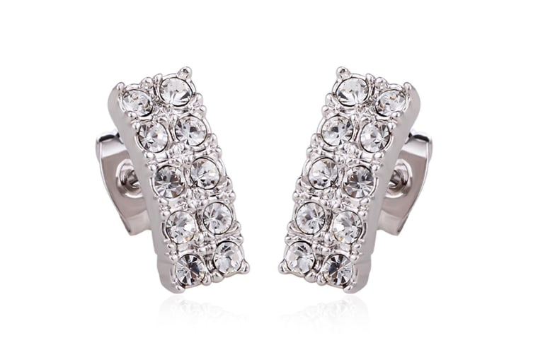 Glitz And Glam Stud Earrings Embellished with Swarovski crystals