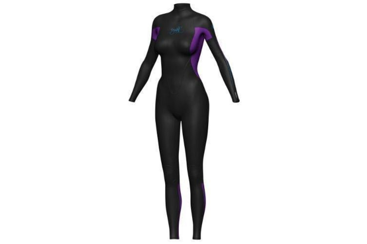 Crystal Women's Superstretch Steamer 3/2mm Wetsuits - Purple/Black (Size 12)