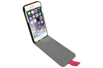 For iPhone 6S 6 Case Fashion Elegant Genuine Lychee Leather Flip Cover Pink