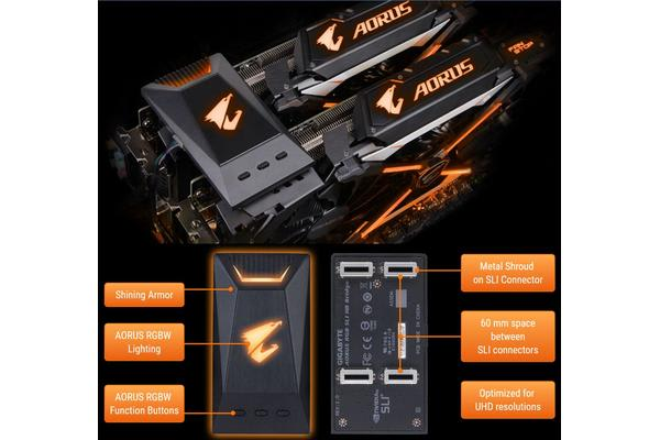 Gigabyte Aorus Rgb Sli Hb Bridge 2 Way Sli Geforce Gtx