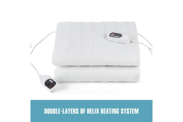 Double Control Electric Blanket Lily Hill - Queen Size