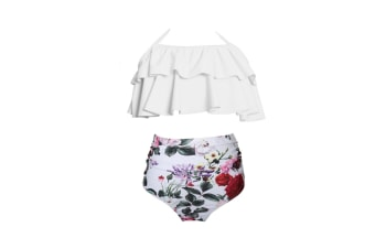 High Waisted Bathing Suit Mommy And Daughter Swimwear Bikini Sets - 3 L