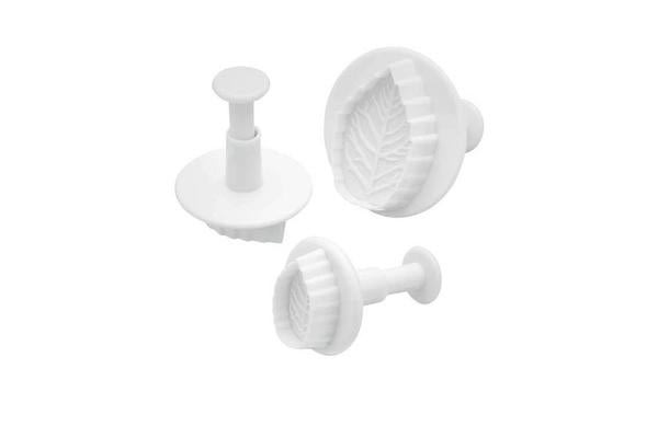 Sweetly Does It Leaf Fondant Plunger Cutters 3pc Set
