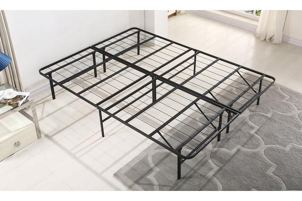 NEW Folding Stylish Metal Bed Frame Queen