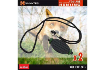 Bundle::10;2pk Duo Fox Caller Mouth Predator Game Call Whistle Different Tone Fox Hunting
