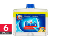 6-Pack Finish Dishwasher Cleaner 250ml - Lemon